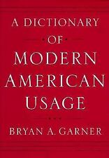 A Dictionary of Modern American Usage Garner, Bryan A. Hardcover
