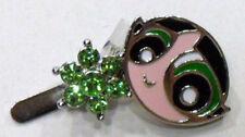 Superchicche - N° 2 Mollette per capelli - con luminosi swarovski verdi