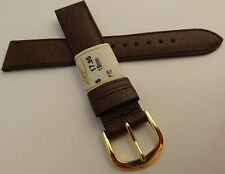 .New ZRC Made in France Brown Pigskin 18mm Watch Band Gold Tone Buckle $17.95