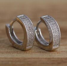 925 Sterling Silver Stylish CZ Huggie Hoops Earrings V-shape Hoops  Jewellery