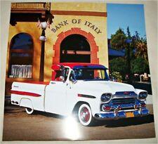 1959 Chevrolet Apache Pickup truck print (red & white)