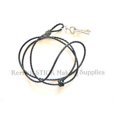 BRAIDED BLACK LEATHER LANYARD FOR WHISTLES,KNIFES NO 406