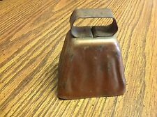 Vintage Metal Cow Bell Copper Colored from Illinois Farmhouse