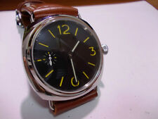 Radiomir Panhom 45mm Polished Steel Yellow Mark Handwind Parnis Watch m militare