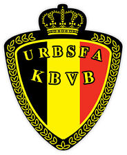 Belgium Belgio association football calcio adesivo etichetta sticker 10cm x 12cm