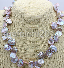 nature South Sea reborn keshi baroque purplepetal pearl necklace