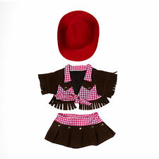 """Teddy Bear COWGIRL Outfit w/RED HAT CLOTHES Fit 14""""-18"""" Build-a-bear !!NEW!!"""