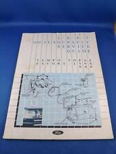 1985 DO IT YOURSELF SERVICE GUIDE FORD TEMPO TOPAZ ESCORT LYNX EXP CAR REPAIR