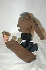 1/6 WW2 British 2nd Royal Ulster Rifles battle dress uniform caubeen & badge lot