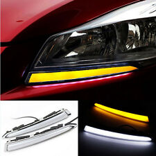 2X LED Daytime Running Light Fog Lamp DRL For Ford Kuga Escape Amber Turn Signal