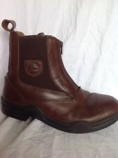 Loveson Brown Leather Ankle Boots Size 8