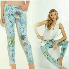 GUESS ANKLE SKINNY SPINGTIME GARDEN FLORAL PRINT JEANS SIZE 27