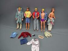 "Mattel Lot Ken Barbie Dolls Clothes 18"" Figures Varying Years 70's 80's 90's"