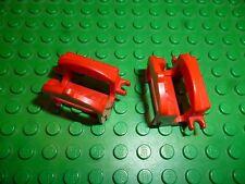 2 Lego Pferde Sättel #4491 rot 2 Clip Ritter Western Figuren Zubehör Minifig
