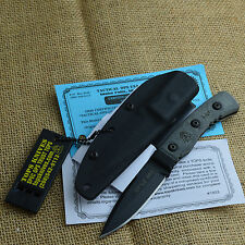 TOPS Knives Little Bro Micarta Handle Fixed Blade Tactical Knife TPLBRO