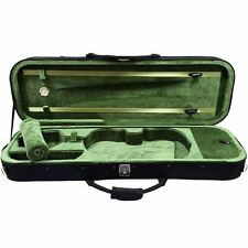 SKY 4/4 Premium Oblong Lightweight Violin Case with Hygrometer Black/Green