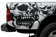 Vinyl Graphics Decal Wrap Kit for 1995-04 Toyota Tacoma Double Skull MATTE WHITE