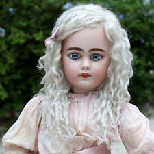 Helen ~ (Size 12-13) Pale Ash Blond Side Part Mohair Wig