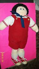 CABBAGE PATCH SOFT SCULPTURE DOLL STANDING EDITION boy black hair w/papers