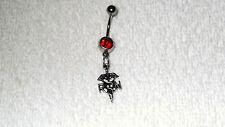 RN Registered Nurse EMT Medical Belly Button Navel Ring Body Jewelry Piercing