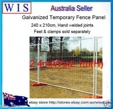 Galvanised Steel Temporary Fence,240 x 210cm,Temporary Fencing,Hand Welded Joint