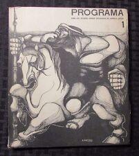 1964 Programa #1 FOR THE SOCIALIST UNITED STATES OF LATIN AMERICA VG Spanish