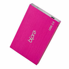 BIPRA 1TB 1000GB 2.5 Portable External Hard Drive USB 2.0 - PINK