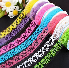 FD1044 Lace Rolls Deco Washi Tape Adhesive Scrapbooking Sticker ~Random 1PC~@