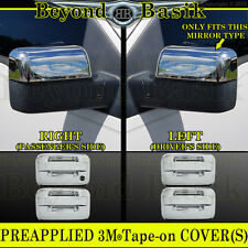 2004-2008 F150 Chrome Door Handle 4DR(W/O KH, W/O Keypad) Top Mirror Covers