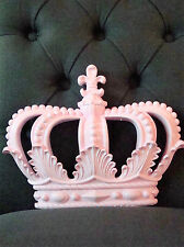 "CROWN WALL DECOR  ""shabby PINK""  Crib Crown Canopy  Princess WEDDING PARTY CHIC"