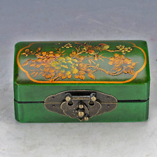 Chinese Collection Wooden Hand Painted Bird & Flower Jewelry Box D149
