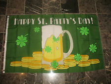 3x5 Happy St. Patty's Patricks Day Flag 3'x5' house banner Beer Gold Shamrock