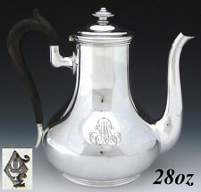 "Antique French ODIOT Sterling Silver 28oz Tea Pot or Coffee Pot, ""AR"" Monogram"