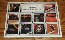 Original 1970 Plymouth Chrysler Imperial Full Line Sales Brochure 70