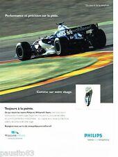 PUBLICITE ADVERTISING 116  2006   Philips   rasoir  éléctrique Williams F1 Team