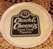 1980's vintage chuck e cheese pizza time theatre -16 inch serving plate