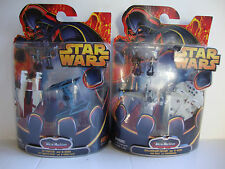 2 X STAR WARS MICRO MACHINES BNIB PACKS TIE FIGHTER A-WING B-WING FALCON