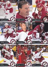 2014-15 Upper Deck Arizona Coyotes Complete Series 1 & 2 Team Set - 12 Cards