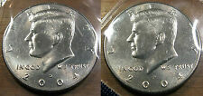 2004 P D Kennedy Half Dollar Set of 2 Brilliant Uncirculated Roll Coin's