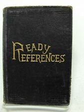 READY REFERENCES 1891 Collectable Leather George Q Cannon Mormon LDS Missionarie