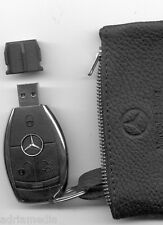 Mercedes Media Interface 2GB USB Schlüssel Leder Tasche W212 W221 W207 W216 W204