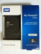 """WD My Passport Ultra USB 3.0 2000GB 2T 2TB 2.5"""" Portable Hard Drives - Black"""