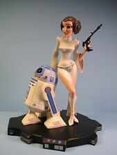 Gentle Giant's Star Wars Princess Leia & R2D2 Animated Maquette - Brand New!