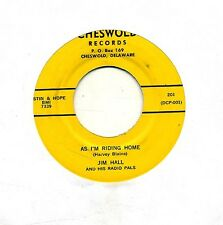 Jim Hall & His Radio Pals 45 Riding Home - Country Rockabilly Cheswold - HEAR