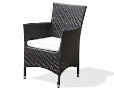 Gartenmöbel, Sessel, Stuhl, Gartenstuhl, Polyrattan, Dunkelbraun, Aluminium