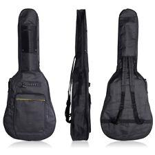 Funda Mochila Bolsa Acolchada para Guitarra Acústica Oxford Impermeable Negro