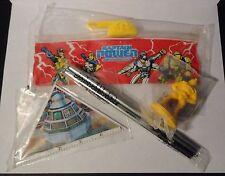 1988 Captain Power - Pencil Case, Pencils, Ruler & Eraser - New