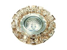 CL7 -Stunning CRYSTAL Diamante Halogen LED Recessed DOWNLIGHT SPOTLIGHT Fitting