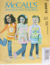Child Sizes  McCall's Pattern 6618 NEW 3 APRONS in Lion Butterfly Dragon
