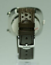 Smoke vintage Heuer Silverstone chronograph 22mm rally band with Heuer buckle